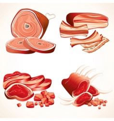 Meat collection vector