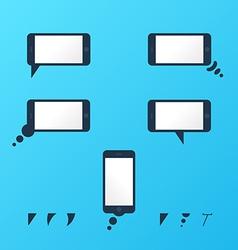 Gadget smartphone empty speech bubbles vector image