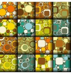 retro seamless patterns collection vector image