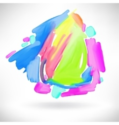 Abstract watercolor splash design element vector