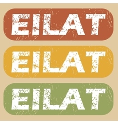 Vintage eilat stamp set vector