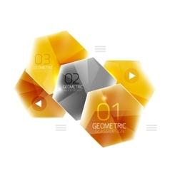 Glass color hexagons vector