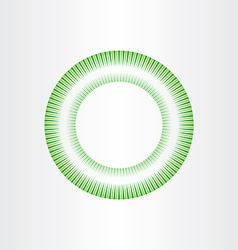 abstract green circle background element design vector image vector image