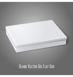Blank white flat package box lying isolated on vector image