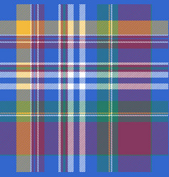 Blue plaid tartan seamless pattern vector