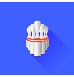Bowlong pins vector