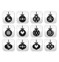 Christmas ball christmas bauble buttons vector image vector image