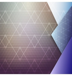 Colorful geometric background abstract triangle vector image