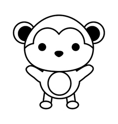 cute monkey isolated icon vector image