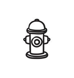 Fire hydrant sketch ico vector