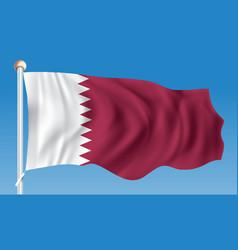 Flag of qatar vector