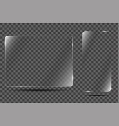 glass frame on transparent background vector image vector image