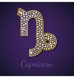 Golden capricorn zodiac signs vector