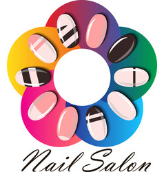 Manicure or nail salon logo vector
