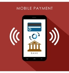 Mobile payment flat design concept vector image