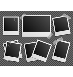 Retro photo polaroid frames set for family vector image