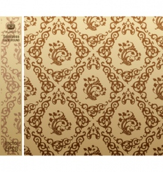 seamless vintage background pattern brown vector image vector image