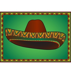 sombrero with ornament vector image