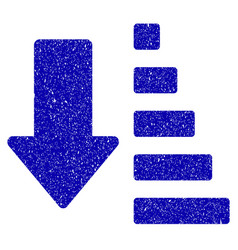 Sort down arrow icon grunge watermark vector