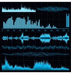 Sound diagrams vector image