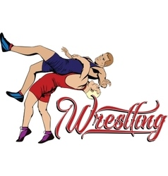 Summer kinds of sports wrestling vector