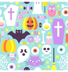 Trendy colors halloween seamless pattern vector
