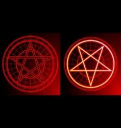Two pentagrams vector