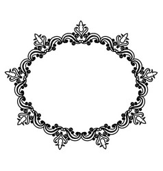 Vintage border frame decoration romantic vector