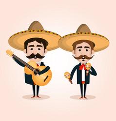 Viva mexico poster icon vector
