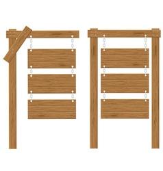 wooden board 03 vector image