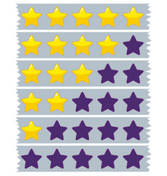 Yellow and blue stars on blue ribbons vector