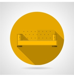 Yellow sofa flat icon vector image vector image