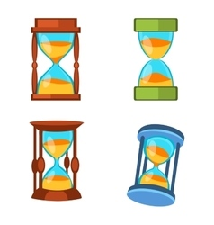 Sand clocks set vector