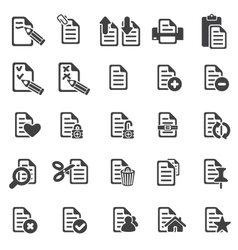 Set of files icons vector