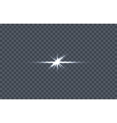 White Glowing Light Burst vector image