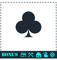 Club card icon flat vector image