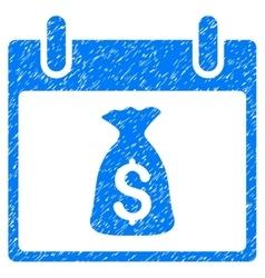 Money bag calendar day grainy texture icon vector