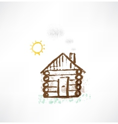 Cottage grunge icon vector