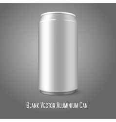 Blank aluminium can for different designs of beer vector