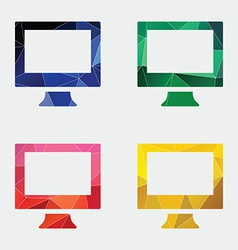 Pc icon abstract triangle vector