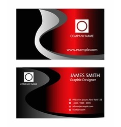 Horizontal business card vector