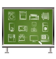 chalk home electronics vector image