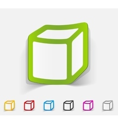 Realistic design element cube vector