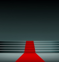 Red carpet on the stairs vector