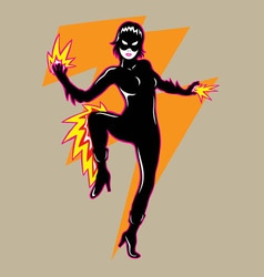 Flash girl vector