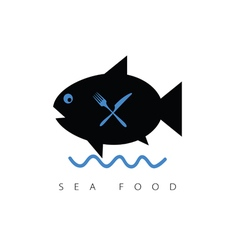 Fish cartoon sea food vector