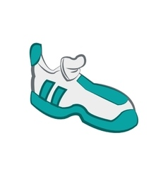 Running shoes icon bodybuilding design vector