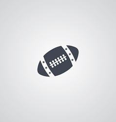 american football logotype vector image
