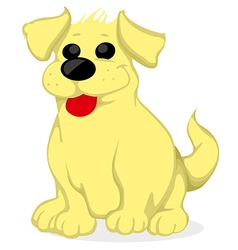 Cartoon golden retriever vector image vector image