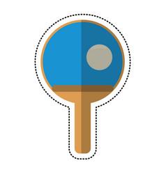 cartoon ping pong paddle ball vector image vector image